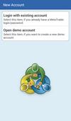 Android Trader: Jauns Konts