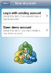 iPhone/iPad MetaTrader4: Jauns Konts